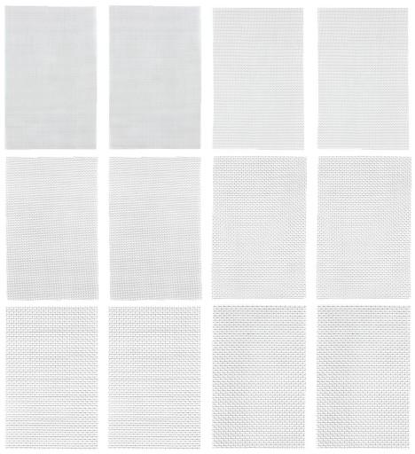 SIATKA DO SPAWANIA PLASTIKU ZESTAW 12szt 12,5x20cm