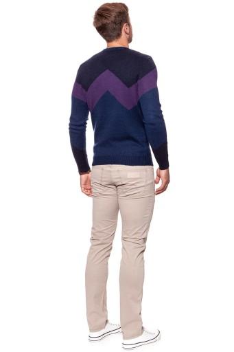 WRANGLER W CREW KNIT MĘSKI SWETER DOPASOWANY L 10453681445 Odzież Męska Swetry AX RMMFAX-6