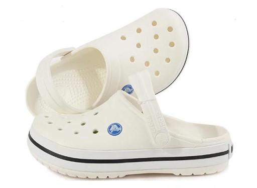 Crocs Klapki sandały buty dziury biały 10710485300 Obuwie Męskie Męskie ZF IPFPZF-3