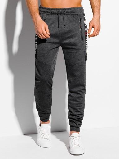 Spodnie męskie dresowe 1048P grafitowe L 10604902083 Odzież Męska Spodnie SY ZDSYSY-6