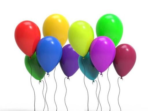 Balony lateksowe kolorowe średnie 24x32 cm 100 szt 6053625096 ...