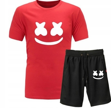 Męski Letni Komplet Marshmello Spodenki + T-shirt 9551601027 Odzież Męska Komplety NP YDBCNP-1