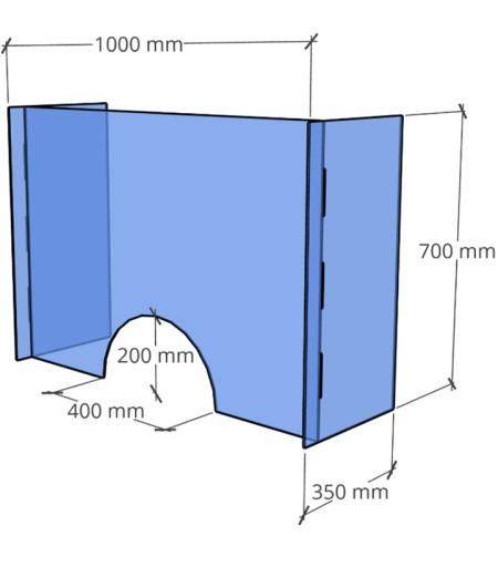 OSŁONY OCHRONNE PLEXI, ANTYWIRUSOWE BHP 70cmx100cm