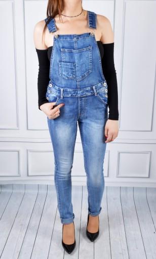 Ogrodniczki Damskie Jeansy Spodnie Jeansowe 9316081323 Allegro Pl