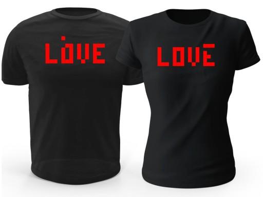 Koszulka na WALENTYNKI LOVE TETRIS - 2 szt.