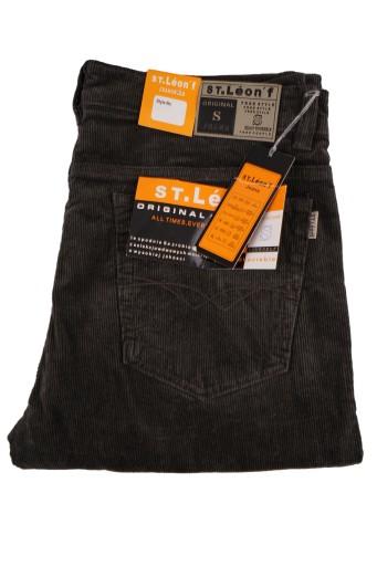 SPODNIE MĘSKIE SZTRUKS OLIWKA ST LEON W42 106-110 10472774852 Odzież Męska Spodnie YB DGSHYB-3