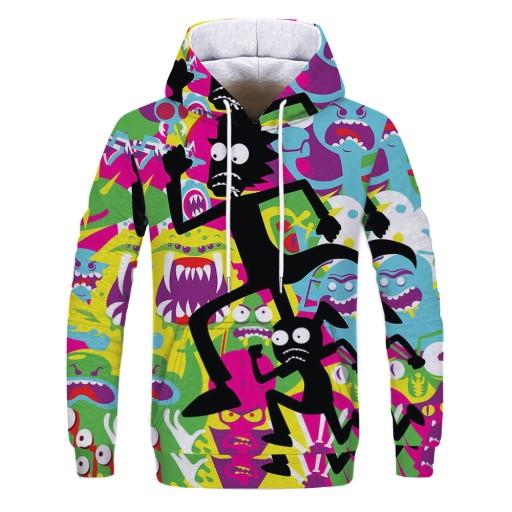 Sweter męski Męska bluza z kapturem z nadrukiem c 9626439690 Odzież Męska Swetry ZA LZPUZA-8