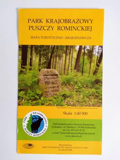 Mapa Park Krajobrazowy Puszczy Rominckiej