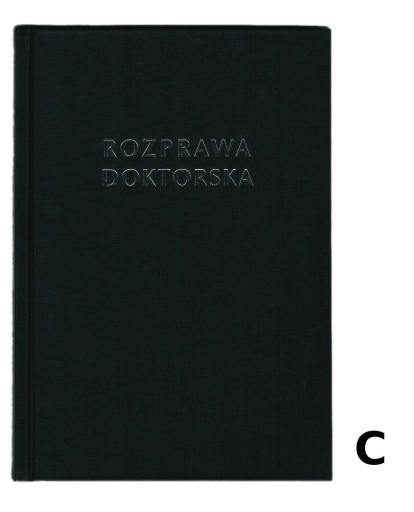 Okładka kanał ROZPRAWA DOKTORSKA czarna C 121-145