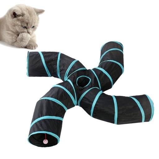 Składany tunel dla kota Zabawka dla kota w tunelu