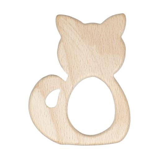 1szt gryzak drewniany duży kot, kotek