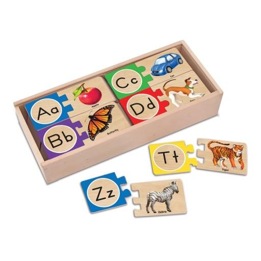 Melissa Puzzle Drewniane Alfabet Literki Angielski