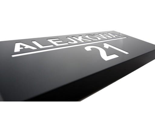 TABLICA NA DOM LED Z CZUJNIKIEM ZMIERZCHU 48x20cm
