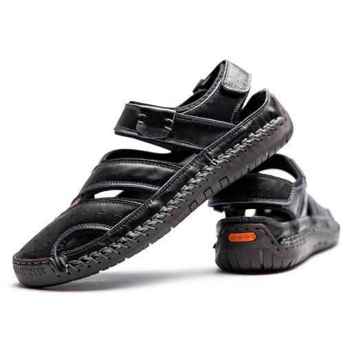 Letnie SkÓrzane Sandały Plus Size Oddychająca 10781572341 Obuwie Męskie Męskie AF OFPZAF-4