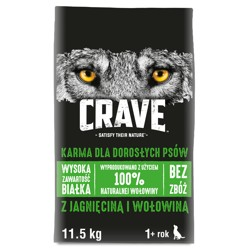 CRAVE - sucha karma 11,5kg z jagnięciną i wołowiną