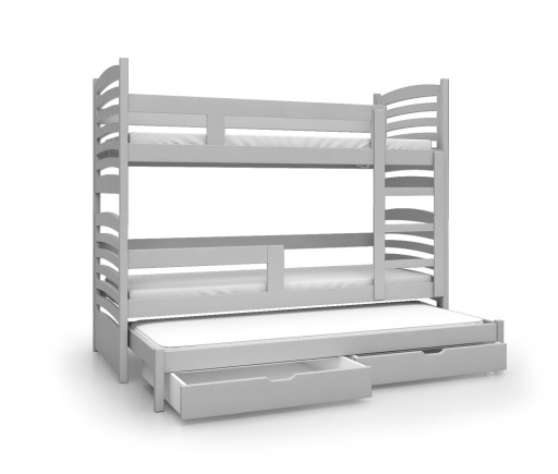 Łóżko piętrowe OLEK 3 osobowe