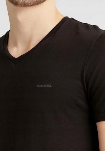 DIESEL Intensywnie Czarna Koszulka Dekolt V _ L 9172606131 Odzież Męska T-shirty EX ALMOEX-9