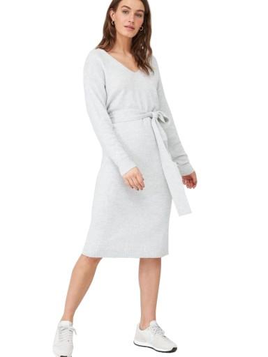V by VERY dzianinowa modna sukienka z paskiem 52