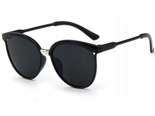 Z197 Okulary Czarne Damskie Cat Retro Kocie Oko