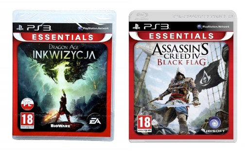 PS3 ZESTAW DRAGON AGE / ASSASSIN'S CREED IV