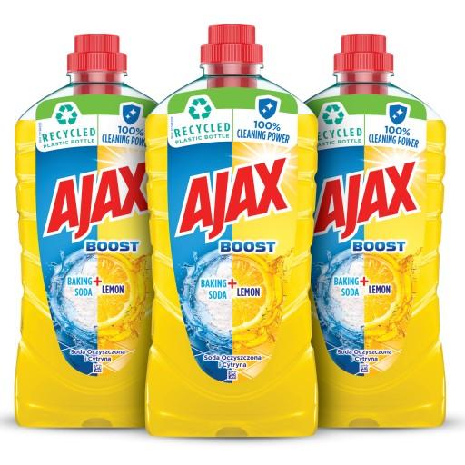 AJAX płyn uniwersalny BOOST SODA - CYTRYNA 3x 1L