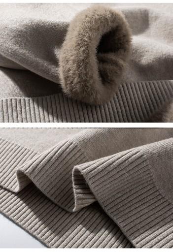 Plus aksamitny gruby sweter męski aksamitny 10709694237 Odzież Męska Swetry GB KVVXGB-8