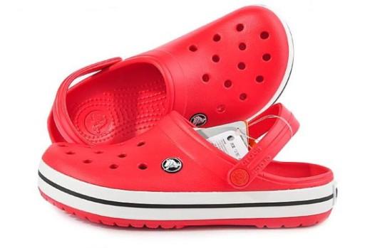 Crocs Klapki sandały buty dziury czerwony 10710222176 Obuwie Męskie Męskie SR IFTBSR-4