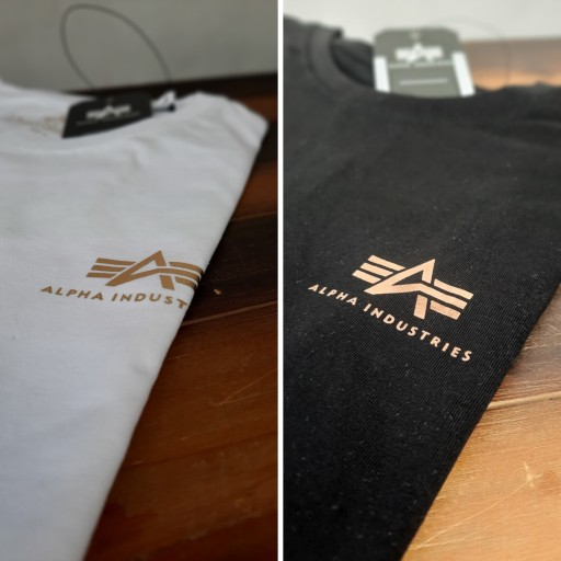 Alpha Industries T-shirt Basic Small Logo Print 10725032510 Odzież Męska T-shirty AX GCCFAX-6