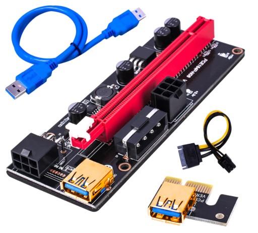 Riser 009S - Najnowszy model - PCI-E 1x-16x USB3.0
