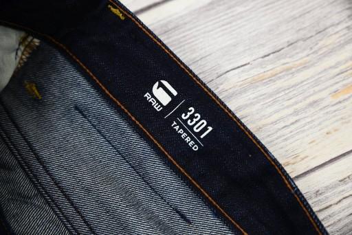 New G-STAR RAW 3301 Tapered Jeans 31/30 nowe 10727210237 Odzież Męska Jeansy KX DEHJKX-6
