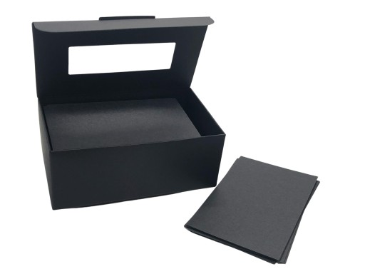 Mini Karteczki Notes Kartoniki Czarne 50x80 Mm 9559356066 Allegro Pl