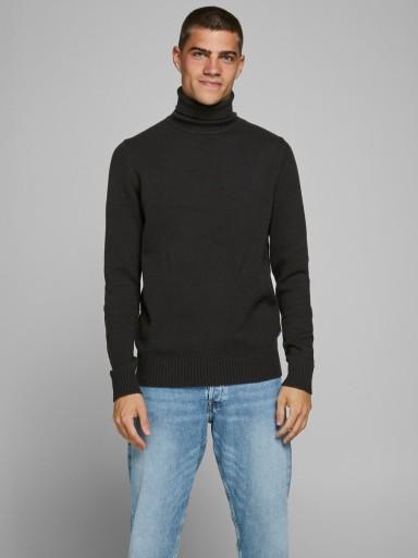 JACK & JONES - sweter męski z golfem Czarny XL 9864522126 Odzież Męska Swetry FY WXXKFY-6