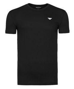 EMPORIO ARMANI czarny t-shirt męska T11 r.S 8895770065 Odzież Męska T-shirty LL QFDJLL-8