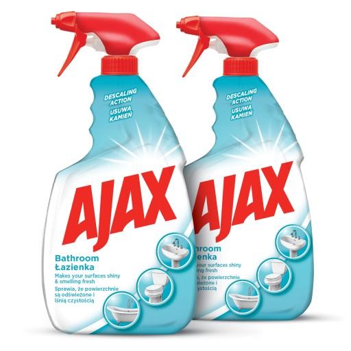 AJAX ŁAZIENKA spray do czyszczenia 2x750 ml