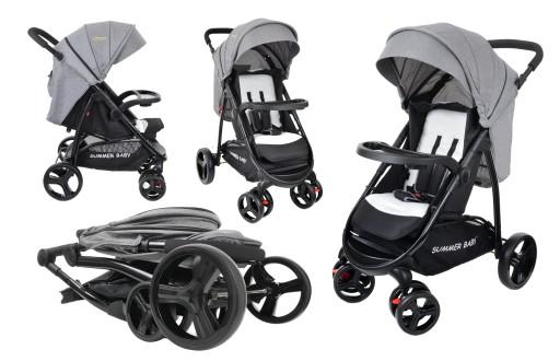 Wózek spacerowy NEVADA Summer Baby kolor szary