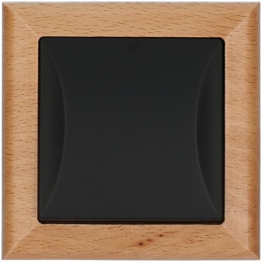 Wyłącznik pojedynczy OPAL drewno / czarny