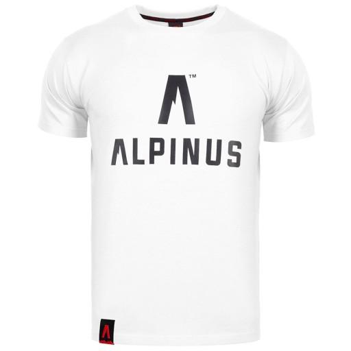Koszulka męska Alpinus Classic biała r.XL 10113575189 Odzież Męska T-shirty HK IZQVHK-7