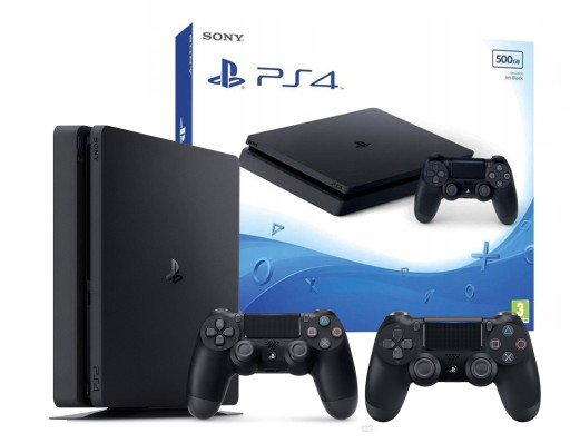KONSOLA SONY PLAYSTATION 4 PS4 SLIM 2x Pad 500GB