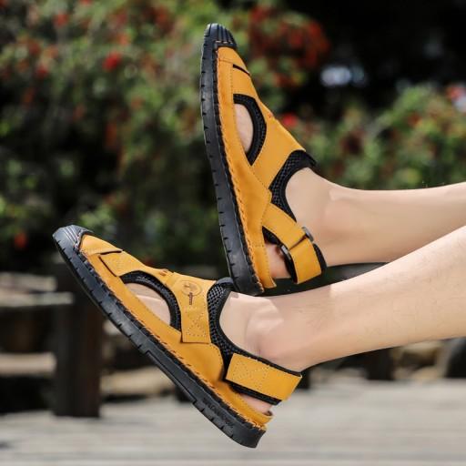 Sandały buty trekkingowe robocze męskie skorzane 10576699901 Obuwie Męskie Męskie KT OKNGKT-7