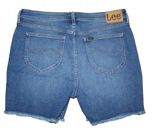 DK K114 Lee Jeansowe spodenki niebieskie 36W Z05 10760182883 Odzież Męska Spodenki SA WQBMSA-9