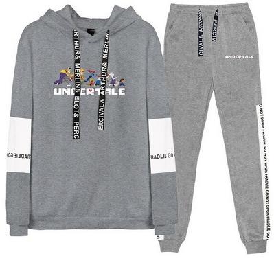 Nowy Męski Set Bluza + Spodnie Undertale XS 34 10716067761 Odzież Męska Komplety FV FZCJFV-1