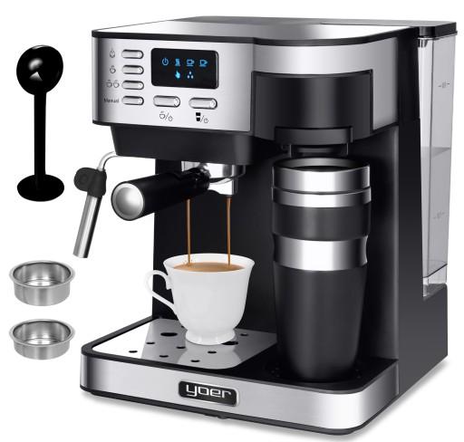 Ekspres do kawy CIŚNIENIOWY PRZELEWOWY Yoer +Kubek