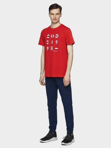 MĘSKI T-SHIRT 4F KOSZULKA SPORTOWA L21-TSM018 10421611515 Odzież Męska T-shirty MH SAJXMH-1