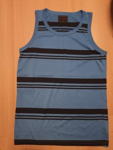 Pure Vintage Top Koszulka Blue M 10753982665 Odzież Męska Koszulki bez rękawÓw DU JTRADU-8