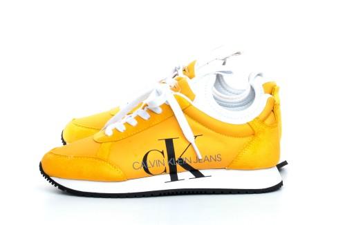 Sneakersy Buty Calvin Klein Jeans Zolte 38 9564189716 Allegro Pl