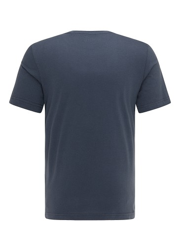 Mustang Alex C LOGO Tee - Blue Nights 10684342369 Odzież Męska T-shirty ED DKLPED-1
