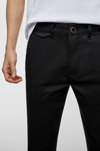 R2B052 ZARA MAN__FY6 CZARNE SPODNIE CHINO__40 10769626565 Odzież Męska Spodnie OH FJSQOH-3