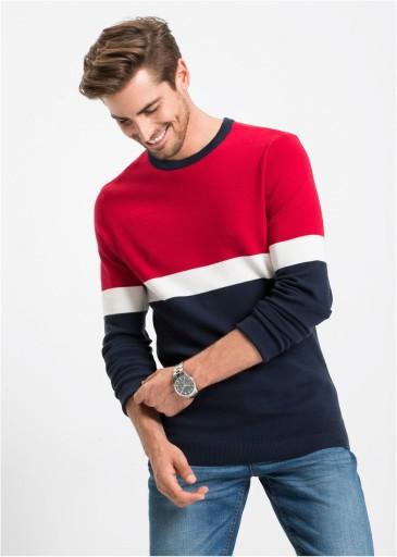 *B.P.C sweter męski w pasy XL. 10768219206 Odzież Męska Swetry XB BQINXB-1