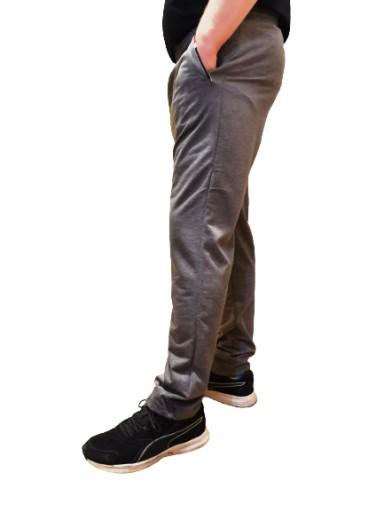 SPODNIE DRESOWE MĘSKIE POPIEL PAS 120-145 R. 7XL 10485620763 Odzież Męska Spodnie DM ETXQDM-1