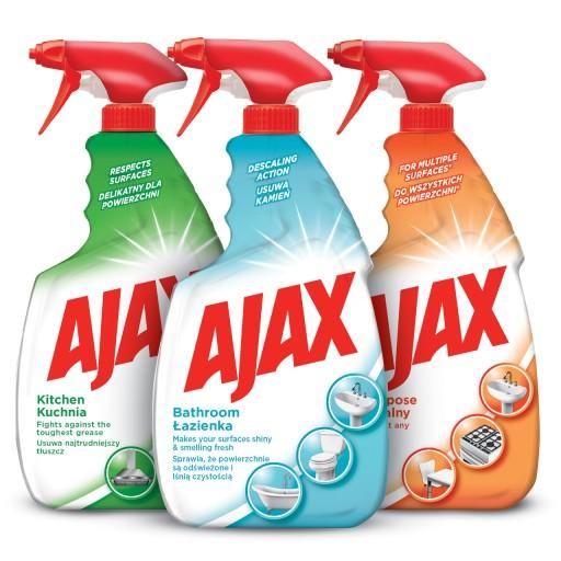 AJAX zestaw do czyszczenia domu spray 3x750 ml